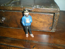 FIGURINE ANCIENNE SERIE TINTIN HERGE BULLY - PORTE CLE CAPITAINE HADDOCK