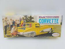 Aurora Customized Corvette All Plastic Model Kit - #548 - ©1963  Factory Sealed