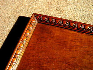 VINTAGE Arts and Crafts style  GOLDEN OAK WOODEN SERVING TRAY....mid 30's?