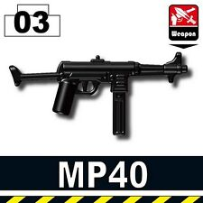 MP40 (W153) WW2 German Werhmacht SMG compatible with toy brick minifigures