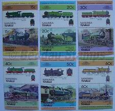 1984 NANUMEA Set #1 Train Locomotive Railway Stamps (Leaders of the World)