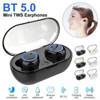 TWS Wireless Earbuds Bluetooth 5.0 Waterproof Mini Earphone Stereo Sport Headset