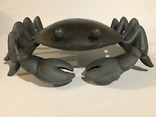 Unique 3D Metal Crab Art 11 Inches X 8 Inches, 4 Inches High