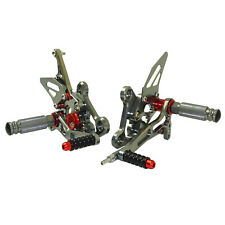 Titanio pedane arretrate regolabili rearsets per SUZUKI GSR750 GSXS750 GSX-S750Z