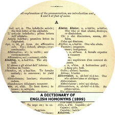 A Dictionary of English Homonyms (1899 Edition) Book on CD