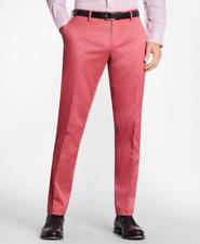 New Brooks Brothers Pants Size 38 x 30 Light Red Brick Pink Flat Front Dress