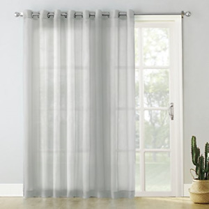 No. 918 Emily Extra-Wide Sheer Voile Sliding Patio Door Curtain Panel