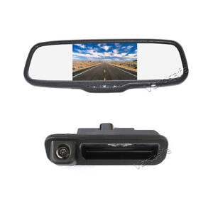 Reverse Backup Camera + Rear View Mirror Monitor for Ford Focus (2012-2014)