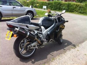 SUZUKI TL1000R POWERTECH CARBON OVAL ROAD LEGAL RACE CAN EXHAUSTS NEW