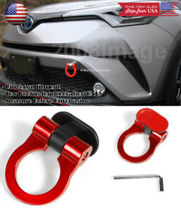 Red Plastic Tape on Adjustable Racing Decoration Tow Hook Ring For Toyota Scion