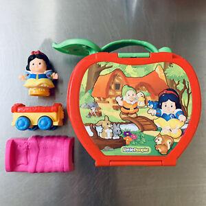 LITTLE PEOPLE® Disney Snow White 🍎 Princess FOLD 'n GO Apple House Complete Set