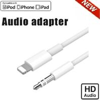 Lightning to 3.5mm AUX Audio Car Adapter Cable Cord For iPhone 7 8 Plus 11 XS XR