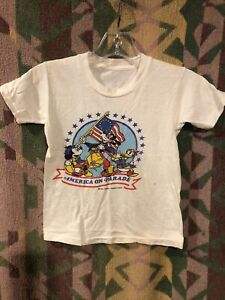 VIntage 70's Disney Mickey Mouse Bicentennial T Shirt Youth Size L