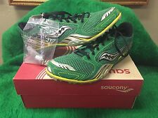 Saucony Track Cleats Green Silver Yellow Velocity Spike 3 Men Size 10 BNIB