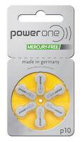 10 Blister PowerOne Hörgerätebatterien Typ: p10