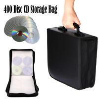 400 Disc CD DVD Bluray Storage Holder Solution Binder Book Sleeve Carrying Case