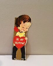 Vtg Card Cute Little 1960's Hipster Style Boy Sweet Simple Be My Valentine
