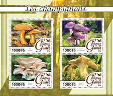 Guinea 2016 MNH Mushrooms 4v M/S Champignons Laccaria Fungi Stamps