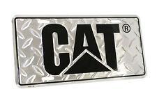 Caterpillar CAT Equipment Diamond Plated Silver Aluminum Novelty License Plate