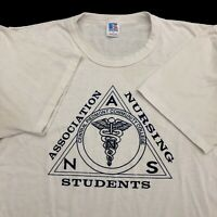 VTG 90s T Shirt Single Stitch Large Central Piedmont Community College Nursing