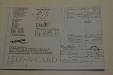 SCHEMA DE FLIPPER GOTTLIEB LITE A CARD