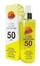 Malibu Clear All Day Protection Spray SPF 50 250ml Water Resistant
