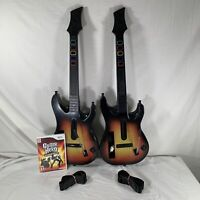 Nintendo Wii Bundle 2 Guitar Hero World Hero Controllers + Game Bundle LOT
