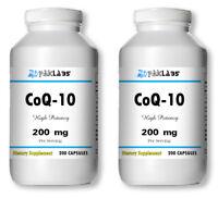 CoQ-10 200mg 400 Capsules Coq10 Co Q10 Coenzyme Anti Aging Cardio Heart ==SALE==