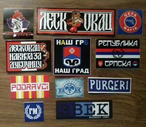 11 x Serbian Football Ultras Stickers