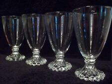 """Anchor Hocking  """"BOOPIE"""" CLEAR 5-1/2"""" WATER / JUICE GOBLETS - Set of (4)"""