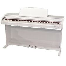 CHASE CDP489 Electric Digital Piano High Gloss White 88 Note Weighted Keyboard