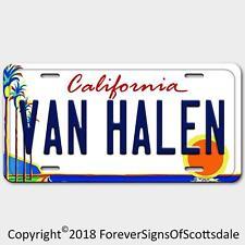 Van Halen Rock Band California Aluminum Vanity License Plate White