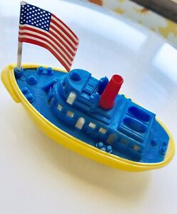 RENWAL Tug Boat With Flag 🇺🇸Made In USA Amazingly Preserved 1950s👀