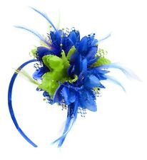 Flower Feather Hair Fascinator on Headband Wedding Royal Ascot Races Bespoke
