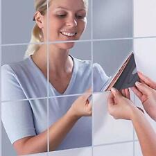 Wall Mirror Stickers Set, 16 PCS Self-Adhesive Plastic Flexible Square...