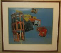 Vintage THOMAS SEAWELL 'The 9th Street' URBAN Serigraph - LIZA MINELLI Cabaret