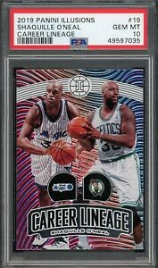 2019-20 Panini Illusions Career Lineage #19 Shaquille O'Neal PSA 10 Gem Mt