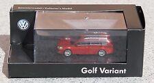 Rietze modello da collezione (h0, 1:87) VW GOLF VARIANT rosso metallizzato Merce Nuova