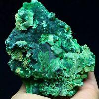 307g Natural Deep Green Spheroid & Acicular Malachite Crystal Mineral Specimen