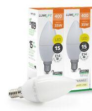 2x 5w  High Lumen E14 LED Small Edison Screw Candle Bulb Cool White SES 5000k