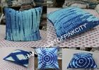 dabu Print Lot of 10 pcs Tie Dye Cushion Cover Shibhori Indigo Print Pillow Case