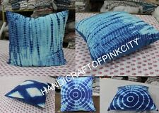 5 pcs Lot Wholesale of tie Dye Cushion Cover Indigo Print Pillow Case Throw