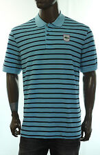 NEW LACOSTE MARINE STRIPED PIQUE WITH BADGE MODERN FIT POLO SHIRT 8 XXL
