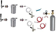 Kegerator Beer Jockey Box keg Double Faucet Draw 50' Coil Cooler Full Kit