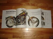 LOOK! HARLEY DAVIDSON TWIN DELL'ORTO POSTER picture print motorcycle bike