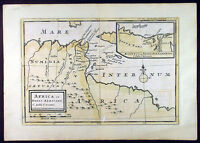 1764 Moll Bowles Antique Map of Carthage and North Africa, Julius Caeser