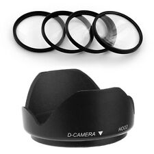 52mm Lens Hood,Macro Filter Kit for Nikon D300 D3100 D5000 D5100 D3200 Camera