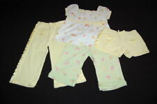 GYMBOREE Wildflower Fields Lot 3 3T Yellow Knit Shorts Capris Floral Print Shirt