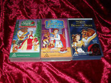 BEAUTY AND THE BEAST  X3  VIDEOS VHS PAL