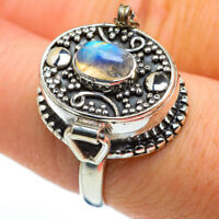 Posion Rainbow Moonstone 925 Sterling Silver Ring Size 8 Ana Co Jewelry R45536F